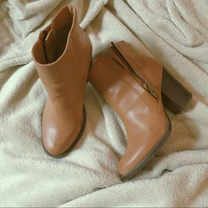Camel colored Urban Outfitters booties